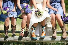 Wedding Cowboy Boots | spoonful of style: wedding inspiration: [ruffles & cowboy boots]