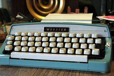 Vintage Webster Portable Typewriter