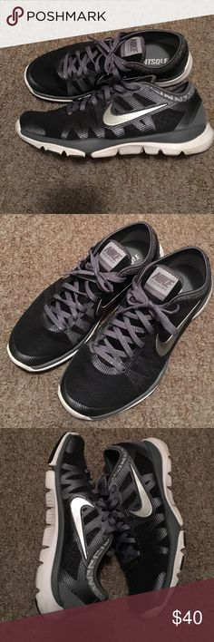 Women's Nike Fitsole Black and grey Nike Fitsole. Worn two times. Great condition. Lightweight. Nike Shoes Sneakers