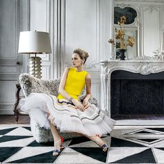 Lauren Santo Domingo in JAR and Christian Dior Haute Couture for Vanity Fair UK