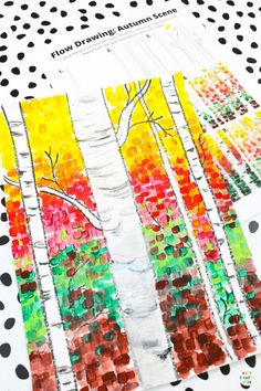 Our Autumn birch tree painting for kids will help children to explore color, texture and contrast, encourage them to observe the details to be found in nature   inspire creativity. A fun Autumn paint along for kids, that can be completed with how to draw guides and a pre-drawn birch tree template. Autumn Tree Crafts for Kids | Fall Tree Art Drawing for Kids | Fall Tree Art Projects for Kids | Fall Art Ideas for Kids | Easy Fall Crafts for Kids Autumn | How to Draw a Fall Tree #KidsArt…