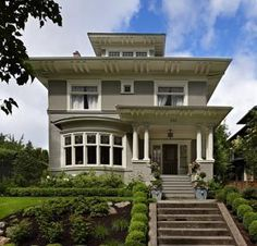 The exterior of this classic Seattle foursquare-style home has hardly changed since it was built in 1907. Even before they'd seen inside, the Herringtons were drawn to its clean lines and simple details. The home was certainly built for a family, and in fact there have always been lots of kids on the block.