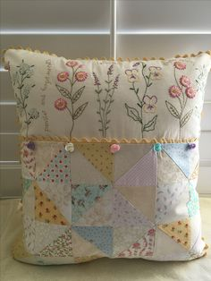 French Cottage Garden Pillow by Rose of Sharon