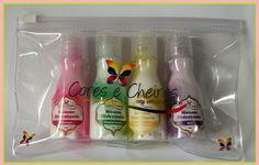 Kit Mini Mousses Hidratantes Cores e Cheiros (ideal para viagens, presentes, carregar na bolsa, dia a dia)