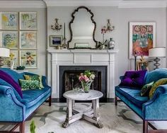 8 Spring Decorating Trends to Make Your Interior Design Bloom Benefits Of Decor, Tropical Interior Design, Art Deco Living Room, Trending Decor, Colourful Living Room Decor, Living Room Mirrors, Teal Living Room Decor, Interior Design, European Furniture
