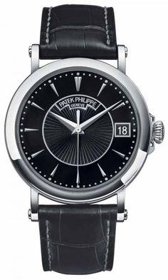 Patek Philippe 5153G Calatrava Calatrava Officier -  - швейцарские мужские наручные часы - белые, черные, золотые часы