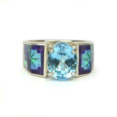 Vintage Blue Topaz Opal Sugalite and Sterling by JewelryWanderlust, $399.00