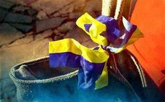 壁紙をダウンロードする テープ, 旗のウクライナ, ウクライナのシンボル, ウクライナのリボン, ウクライナのテープ
