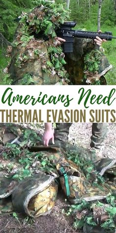 Americans Need Thermal Evasion Suits - Some time back there was technology introduced that would protect the wearer from the thermal imagery of drones above. This thermal wear was in the media for a brief period and then seemed to disappear shortly after. Survival Life, Homestead Survival, Wilderness Survival, Survival Tools, Camping Survival, Survival Prepping, Zombie Apocalypse Survival, Survival Stuff, Survival Equipment