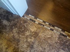 tile transition to wood