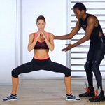 Wow, I did this and I felt the burn almost immediately! Something you can do at home when you can't (don't want to) make it to the gym.  VSX Victoria's Secret Butt Workout With Doutzen Kroes