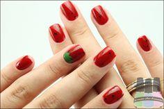 nail art de morango
