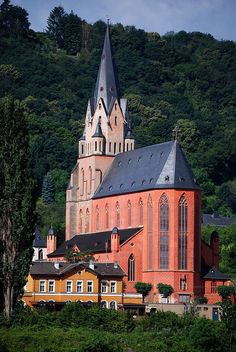 Oberwesel Church, along the Rhine between Cologne and Rudesheim, Germany