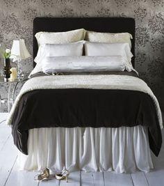 Silver/Black Bedding