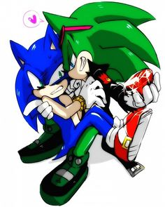 Tags: Anime, Fanart, Sonic the Hedgehog, Sonic the Hedgehog (Character), Team Sonic, Scourge the hedgehog