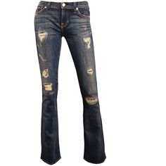 Tyler Distressed Bell Bottom Jeans (7 065 UAH) ❤ liked on Polyvore featuring jeans, pants, bottoms, 14. pants., destroyed jeans, bellbottom jeans, torn jeans, 5 pocket jeans and zipper jeans