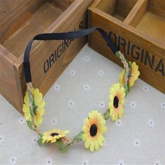 1pc New Boho Sunflower Beach Headband Garland Attraction Wreath Hair Accessories-in Hair Accessories from Women's Clothing & Accessories on Aliexpress.com | Alibaba Group
