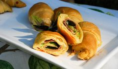 Ham, Cheese and Spinach Crescent Roll-Ups