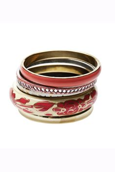 Completing the festival look with chunky bangles. Primark