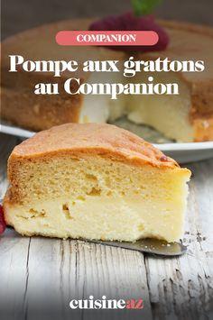 La pompe aux grattons est une spécialité culinaire du centre de la France, dans l'esprit d'une brioche salée. C'est facile à cuisiner au Companion ! #recette#cuisine#pompeauxgrattons#patisseriesalee #france #robot #robotculinaire #companion Cornbread, Vanilla Cake, Robot, Biscuits, Flan, Ethnic Recipes, Centre, Desserts, Cooking Recipes
