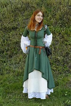 very pretty green dress.... possibly for archer or lady