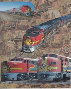 The Cheif  Santa Fe Railroad  One of a Kind by ViewObscura on Etsy, $10.00