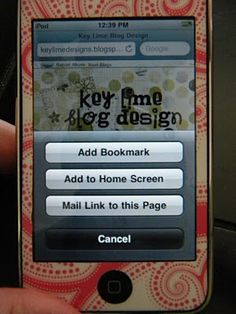 Custom iPhone Icons For Your Blog - Key Lime