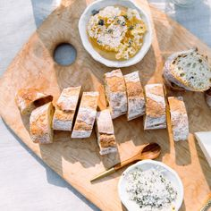 A basic baguette gets an upgrade from honeycomb topped with lavender and a sprinkle of herbed salt.