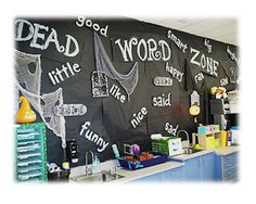 """Elementary Shenanigans: You Are Now Entering...THE Dead Word Zone... Students """"lay dead words to rest"""" and come up with more colorful, lively synonyms to use instead!"""