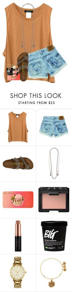 """""""need some irl friends who i can talk to:("""" by lindsaygreys ❤ liked on Polyvore featuring Birkenstock, Chan Luu, Too Faced Cosmetics, NARS Cosmetics, Anastasia Beverly Hills, Kate Spade and Alex and Ani"""