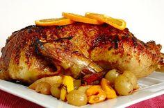 Pato assado com laranja e vinho do Porto (roasted duck with orange and port)