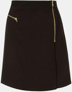 Flannel Faux Wrap Skirt - topshop