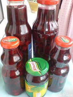 Canning Pickles, Hot Sauce Bottles, Preserves, Food And Drink, Cooking Recipes, Sweets, Drinks, Desserts, Cookies