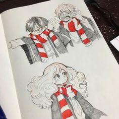 Harry Potter c'est la vie Arte Do Harry Potter, Harry Potter Drawings, Harry Potter Anime, Harry Potter Fandom, Harry Potter Universal, Harry Potter Memes, Desenhos Harry Potter, Cartoon Art Styles, Arte Sketchbook