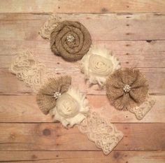 Burlap Wedding Garter Set Rustic Style by HavingFunWithCrafts, $24.99