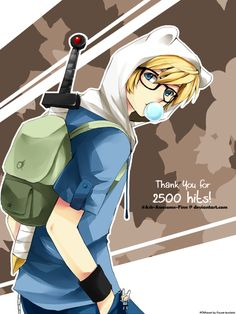 Why isn't adventure time an anime?So cute Finn anime! Anime Chibi, Cartoon As Anime, All Anime, Anime Guys, Cartoon Adventure Time, Adventure Time Finn, Finn The Human, Finn Y Marceline, Teen Titans