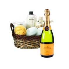 Spa Basket and Sparkling Wine to Netherlands-Antilles