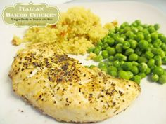 Easy Italian Baked Chicken Recipe - uses frozen chicken. Super easy.