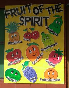 School Bulletin Board, Fruits of Spirit Board, Thermocol Craft for kids