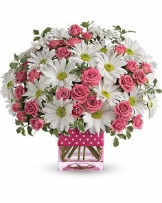 Polka Dots and Posies - Send Flowers to Calgary