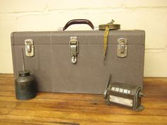 Vintage Brown Kennedy Tool Box with Tray by rustbeltsanctuary