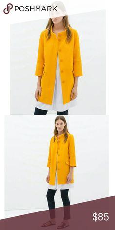 Zara yellow coat New with tags. Zara Jackets & Coats