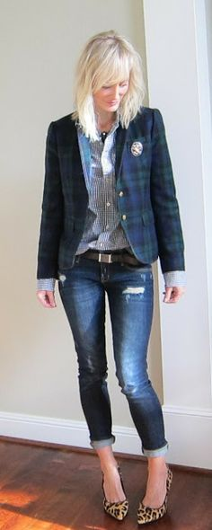 Oh how I LOVE these pumps!  Looks adorable with this jacket and jeans! xo