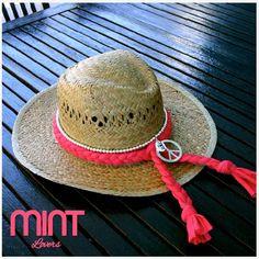 Chapéu de palha com trança