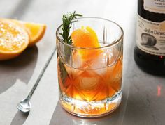 The warming combination of scotch whisky, rosemary, and orange make this the perfect winter nightcap.
