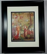 1968 Slaying of the Firstborn by Luini, Old Master Bible Masterpiece Art Framed
