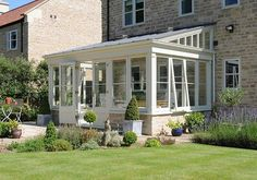 lean to Garden room Its not all orangeries amp; garden rooms this lean-to conservatory design is simple but effective and created the perfect link between house amp; Lean To Conservatory, Conservatory Extension, Conservatory Design, Orangery Conservatory, Roof Extension, Garden Room Extensions, House Extensions, Casa Patio, House Ideas