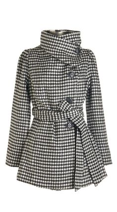 #styles Belted Houndstooth Coat...