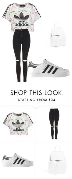 """""""Casual look"""" by mevsyou on Polyvore featuring adidas Originals, Topshop, adidas and Mansur Gavriel"""