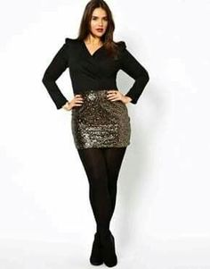Trendy holiday outfits christmas casual plus size Nye Outfits, Curvy Outfits, Holiday Outfits, Night Outfits, Club Outfits, Holiday Skirts, Vegas Outfits, Plus Size Club Dresses, Plus Size Outfits